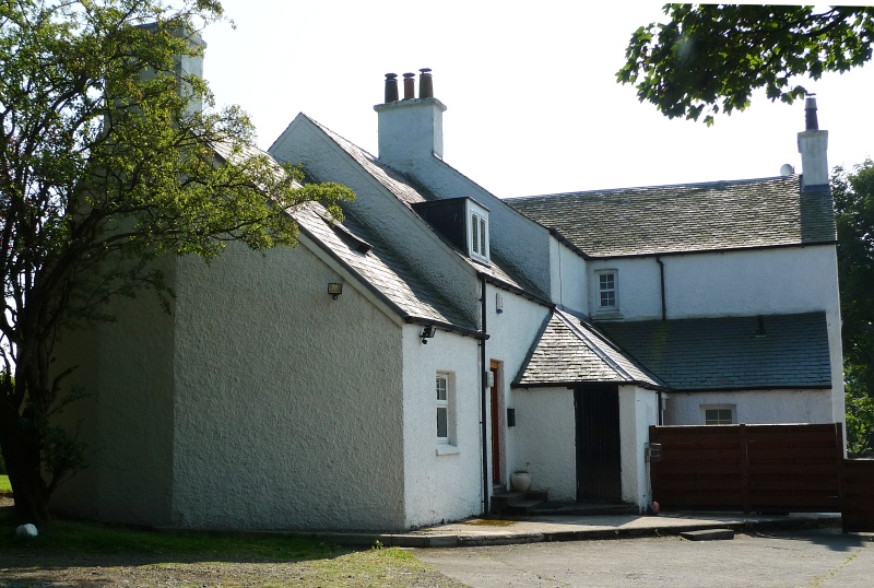Colour photograph of rear addition to Auchenbothie Mains