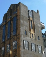 Colour photograph of S.W. wing of Glasgow School of Art